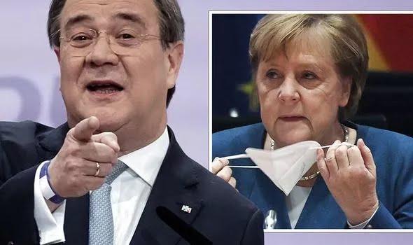 Armin Laschet and Angela Merkel