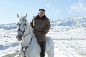 north korea news kim jong un white horse mount paektu propaganda stunt pictures