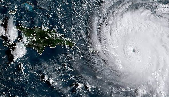 Hurricane Irma over the Caribbean